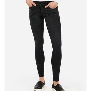 Express Mid Rise Black Legging Skinny Jean